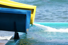 Деталь привлекательностей аквапарк (скольжение) стоковая фотография