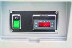 Деталь промышленного стального холодильника Стоковое фото RF