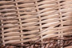 Деталь плетеной корзины стоковая фотография rf