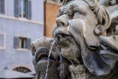 Деталь Рим фонтана Стоковая Фотография