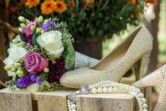 Деталь роз Bridal Стоковое фото RF