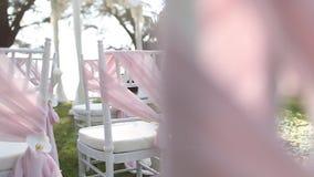 Деталь свадьбы сток-видео