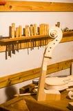 Деталь скрипки стоковые изображения rf