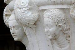 Деталь, скульптура, Венеция, Италия Стоковое Изображение RF