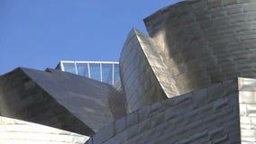 Деталь снятая Бильбао Guggenheim видеоматериал