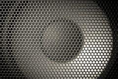 Деталь снятая некоторых круглых дикторов Текстура гриля диктора Стоковая Фотография RF