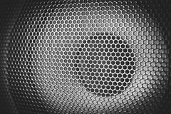 Деталь снятая некоторых круглых дикторов Текстура гриля диктора Стоковое Фото