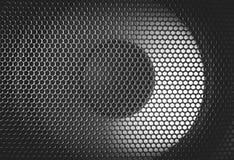Деталь снятая некоторых круглых дикторов Текстура гриля диктора Стоковые Фотографии RF