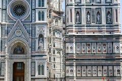 Деталь собора и Giotto& x27; belltower s в Флоренсе Стоковое Изображение RF