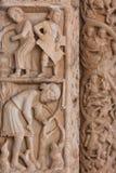 Деталь собора Св. Лаврентия в Trogir, Хорватии Стоковая Фотография RF
