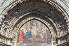 Деталь собора Флоренса, Флоренс, Италия Стоковые Фотографии RF