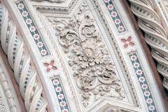 Деталь собора Флоренс Стоковые Фото