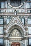 Деталь собора Santa Croce в Флоренсе Стоковое Изображение RF