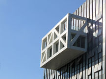 Деталь современного футуристического здания архитектуры стоковое фото