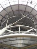 Деталь современной архитектуры вертодрома в больнице Стоковая Фотография