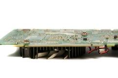 Деталь современной видеокарты компьютера стоковые фотографии rf