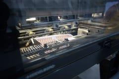 Деталь современной промышленной печатной машины Стоковое Фото