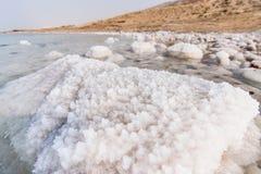 Деталь соли на мертвом море стоковое фото
