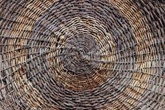Деталь сплетенной плетеной корзины стоковое изображение rf