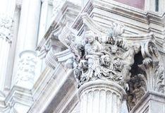 Деталь средневекового capitel Стоковые Фото