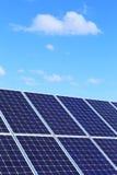 Деталь станции солнечной энергии стоковое фото rf