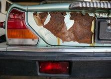 Деталь старого и ржавого автомобиля Стоковое Изображение RF