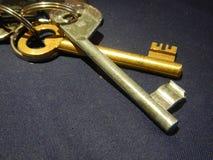 Деталь старого ключа от двери Стоковые Изображения