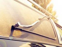 Деталь старого похоронного автомобиля Стоковое Изображение