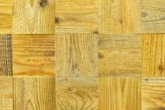 Деталь старого холста, деревянные квадраты Предпосылка текстуры Grunge экологическая деревянная, деревянная поверхность С местом  Стоковое Фото