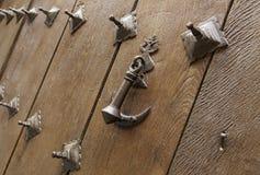 Деталь старой деревянной двери Стоковая Фотография RF