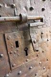 Деталь старой железной двери Стоковое фото RF