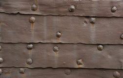 Деталь старой железной предпосылки двери Стоковые Изображения