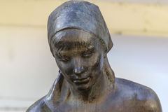 Деталь статуи в Imperia Dolceacqua, Лигурии женщины, Италии Стоковое Изображение