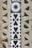 Деталь стены виллы Cimbrone в побережье Амальфи, Италии, Europ Стоковая Фотография