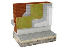 Деталь стены изолированной с шерстями утеса Стоковые Фотографии RF