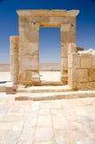 Деталь стены на месте Avdat ЮНЕСКО Стоковые Изображения RF