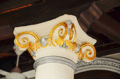 Деталь столбца мечети Kampung Kling на Малакке, Малайзии Стоковое Изображение RF