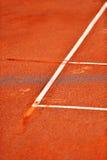 Деталь суда глины тенниса боковой линии Стоковое Изображение RF