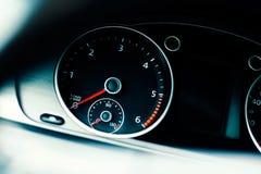 Деталь тахометра в автомобиле Стоковая Фотография