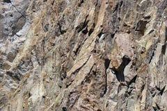 Деталь, тектонический сновать вулканического риолита трясет Стоковая Фотография RF