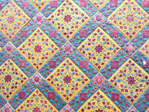 Деталь традиционных плиток Стоковые Фото