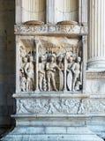 Деталь триумфального свода Castel Nuovo, Maschio Angioino Неаполь Стоковое Фото