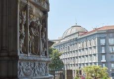 Деталь триумфального свода Castel Nuovo, Maschio Angioino Неаполь Стоковое Изображение RF