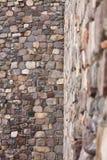 Деталь укрепленной каменной стены стоковые фотографии rf