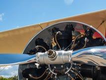 Деталь упорки и двигателя воздушного судна пропеллера Стоковые Фотографии RF