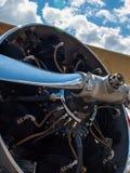 Деталь упорки и двигателя воздушного судна пропеллера Стоковая Фотография
