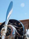 Деталь упорки и двигателя воздушного судна пропеллера Стоковое Фото
