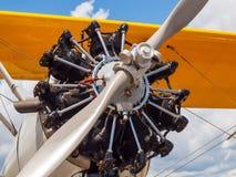 Деталь упорки и двигателя воздушного судна пропеллера Стоковое Изображение RF