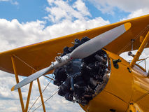 Деталь упорки и двигателя воздушного судна пропеллера Стоковые Изображения