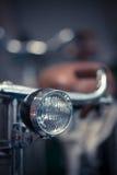 Деталь фары велосипеда Стоковые Изображения